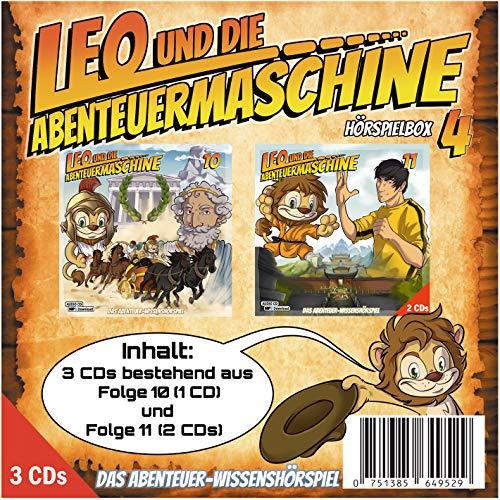 Leo und die Abenteuermaschine Hörspielbox 4 | 3 CDs Bundle | Wissenshörspiel | für schlaue Kids | mp3 Code CD | Archimedes | Bruce Lee | Ng Mui