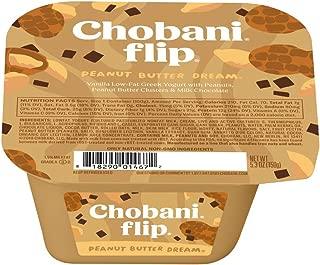 Chobani Flip Peanut Butter Dream Greek Yogurt, 5.3 Ounce -- 12 per case.