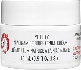 First Aid Beauty Eye Duty Niacinamide Brightening Cream, Illuminating Eye Cream for Dark Circles and Puffiness, 0.5 oz.