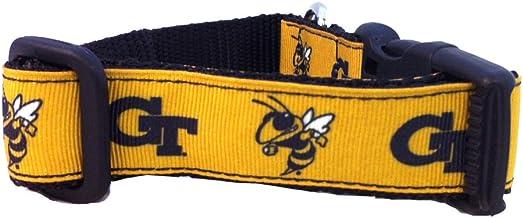 NCAA Georgia Tech Yellow Jackets Dog Collar (Team Color, Large)