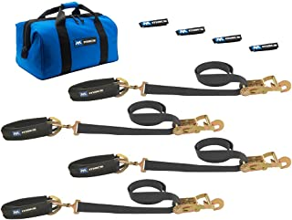 Mac's Tie-Downs 511618 Black Pro Pack with 8' x 2