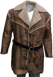 Men's Anson Mount Real Leather Faux Fur Coat Jacket