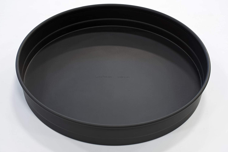 LloydPans 14x2.25 inch, Deep Dish Pizza Pan. Pre-Seasoned PSTK, Self-Stacking Pan