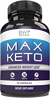 Max Keto Diet Pills - Advanced Weight Loss - BHB Salts Burn Fat, Support Ketosis, Boost Energy and Enhance Focus