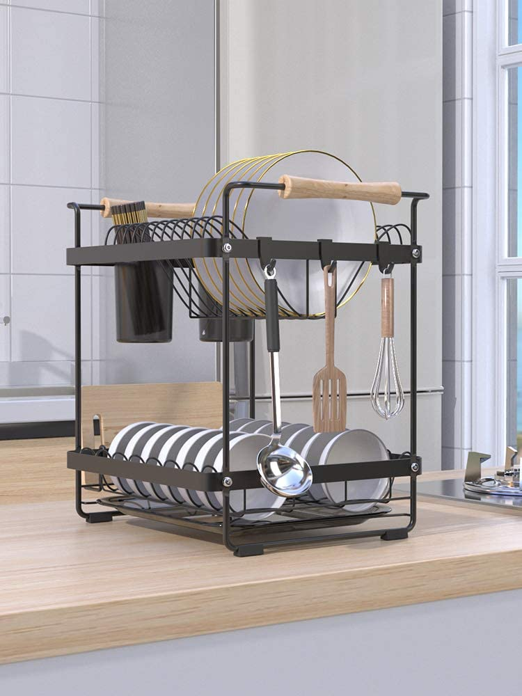 IFOYO 日本未発売 2 Tier Dish Drying Rack 待望 Steel and Stainless Dra
