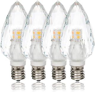 Tengyuan シャンデリア電球 E17 クリスタルタイプ LED シャンデリア形 電球 40W形 電球色 2700k 400lm 電球 E17口金 40W シャンデリア形 雰囲気重視 (4個入り)