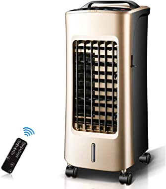 4-in-1 Portable Air Conditioner with Cooling, Heating, Fan and Dehumidifier Function, 3 Fan Speeds with Sleep Mode, Remote Co