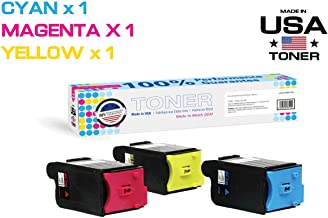 Made in USA Toner Compatible Toner Cartridge Replacement for Sharp MX-C30NT, MX-C250F, C300P, C300W, C301W, C303W, C304W, C305W, C306W (Cyan, Magenta, Yellow, 3 Pack)