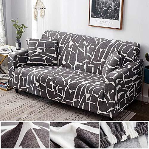 Funda de sofá con diseño de Hoja nórdica, Funda de sofá elástica de algodón, Fundas de sofá universales para Sala de Estar A1, 2 plazas
