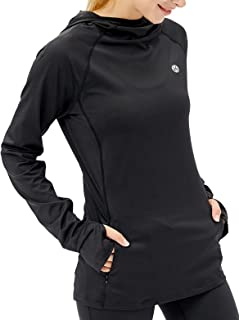 Women's Running Hoodie Workout Pullover Athletic Long Sleeve Tops with Thumb Hole for Hiking Jogging Gym Activewear