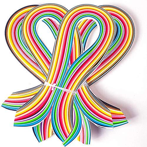 Quilling-Papier-Set, 54 cm Länge, 36 Farben, komplette Quilling-Streifen, 3/5/7/10 mm Breite, 4 Packungen