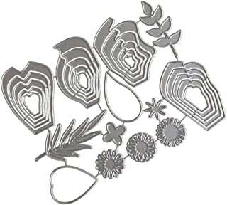 Die Cuts, Machine Cutting Edge Stencils, For Making Scrapbooking Metal For Card Making, Get Well Embossing Folders Stamps Christmas Big Shot For Album Decorative DIY Pape (F)