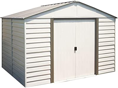 Arrow Milford 10 ft. x 12 ft. Vinyl-Coated Steel Storage Shed with