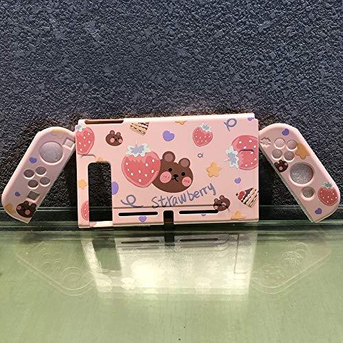 Xpccj Funda protectora para Nintendo Switch rosa suave para Nintendo Switch para Nintendo Switch para Niñas de verano, funda protectora para consola de juegos (color: super paquete)