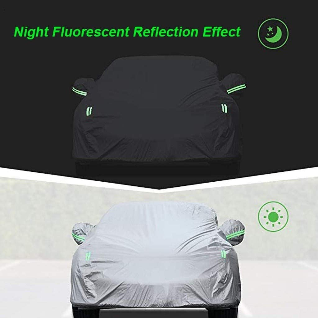 Car Cover Compatible with BMW 435 All Weather Waterproof Anti-Theft Anti-Uv Scratch Resistance Oxford Cloth Outdoor Full Automobiles Cover