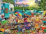Puzzle 1000 Piezas Adultos Camping Familiar Regalos para Adolescentes y familias 38X26CM