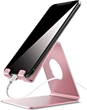 Cell Phone Stand, Lamicall Phone Cradle : Phone Dock, Holder Compatible with Android Smartphones, Phone 11 Pro XS Max XR X 6 6s 7 8 Plus 5 5s 5c, Samsung, Used for Desk, Table, Night Stand - Rose Gold