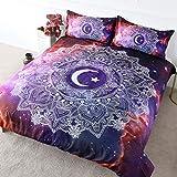 Mandala Moon Bedding Universe Celestial Space Star Funda nórdica...