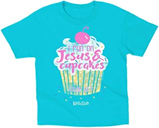 Kids I Run On Jesus and Cupcakes T-Shirt - Blue -