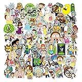 Rick und Morty Aufkleber [100Pcs], Vinyl Wasserdicht Cartoon Aufkleber für Laptop Aufkleber Bomb Decal für Snowboard Laptop Gepäck Auto Kühlschrank Fahrrad Helm DIY Styling Vinyl Home Decor