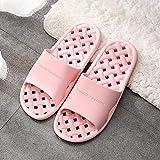 Zapatillas Casa Chanclas Sandalias Zapatillas De Baño, Diapositivas Simples para Mujer, Antideslizantes, Sandalias Salvajes para Parejas, Dormitorio Femenino, Interior Hueco, Zapatos para Hombres