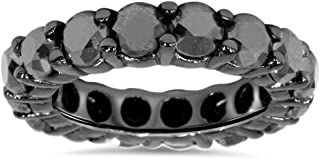 black gold eternity ring