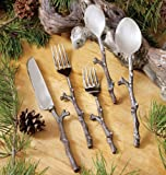 Black Forest Décor Antique Copper Twig Flatware Set - 5 pcs