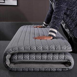 XUE-BAI Colchones de látex y espuma de memoria de Futón, fibra suave Japonés Tradicional tailandés Piso Colchoneta de dormir portátil plegable Meditación de yoga Tatami Mats Mattres