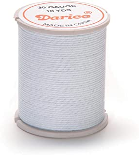 Darice Bulk Buy DIY Cloth Covered Wire 30 Gauge White 10 Yards (6-Pack) 32032-5