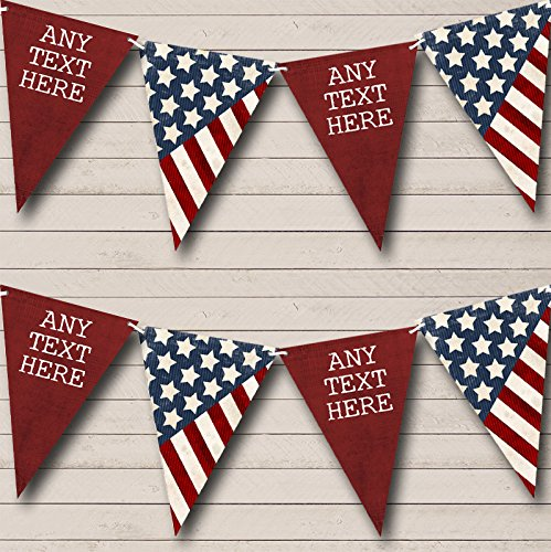 Amerikaanse Amerikaanse vlag sterren strepen 4 juli carnaval, Fete Bunting partij Banner decoratie slinger Large