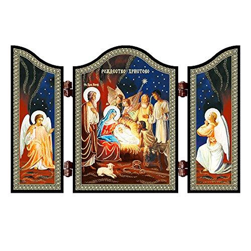NKlaus 1432 Geburt Jesu Christi Weihnachten christliche Ikone Rozhdestvo Hristovo