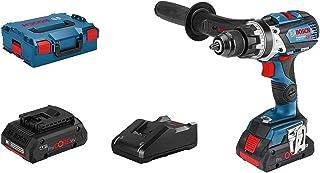 Bosch Professional 18V System GSB 18V-110 C - Taladro percutor a batería (110 Nm, 2100 rpm, conectable, 2 baterías ProCORE x 4,0 Ah, en L-BOXX)