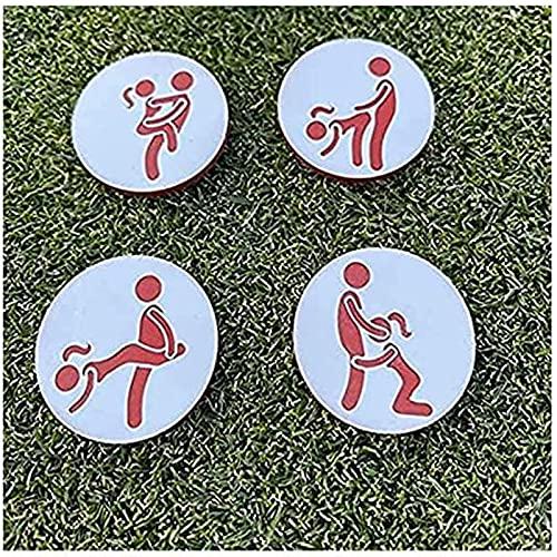 DKOUPTO 4PCS Marcadores de Pelota de Golf Conjunto de Humor Adulto de 4, Herramienta de Marcador de Pelota de Golf para Adultos, Marcador de Bola Especial Personalizados de Bolas de Golf Hecho
