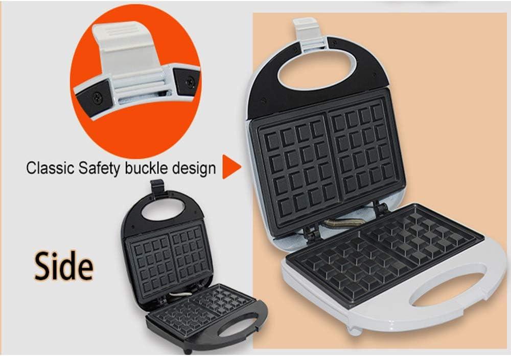Machine à gaufres antiadhésive pour le petit-déjeuner individuel, le déjeuner et des collations faciles à utiliser, à nettoyer et à ranger,Noir Black