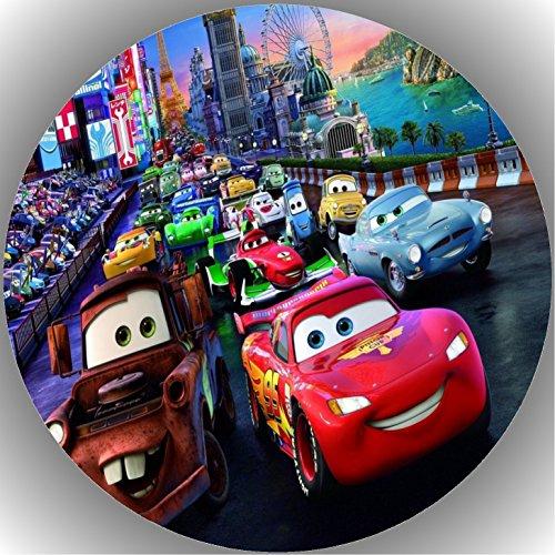 Fondant Tortenaufleger Tortenbild Geburtstag Disney's Pixar Cars T16