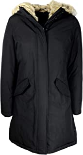 HOX Chaqueta de mujer XD4501 color negro con capucha forrada de piel sintética