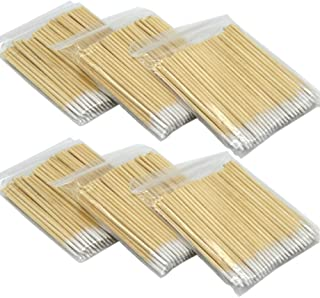 600Pcs Microblading Cotton Swab Short Wood Handle Small Pointed Tip Head Cotton Swab Eyebrow Tattoo Beauty Makeup Permanent Supplies Cosmetic Applicator Sticks
