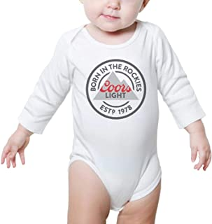 Long Sleeve Baby Clothing Coors-Light-Born-in-The-Rockies- Lovely Bodysuit