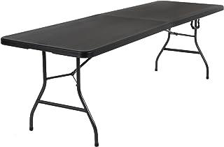 میز تاشو قالب دار در نصف ضربه COSCO Deluxe 8 فوت در 30 اینچ ، مشکی