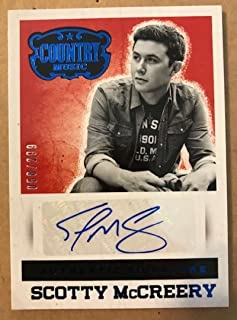 2014 Panini Country Music Signatures Blue #S-SM Scotty McCreery Auto Autograph SER/299