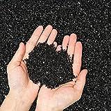 Piedras Decorativas Grava decorativa de galaxia negra natural, jardín ornamentales piedras machacadas negras para maceta suculenta cactus bonsai, rellenos de florero de bricolaje, acuario de pómez ter