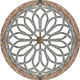BIUBIULOVE Arte de Pared Redondo Heritage - Medallones de Pared Decorativos de Metal, Hecho a Mano Creativo Decoración de Arte de Pared Redonda, para el hogar, el Dormitorio, la Sala de Estar
