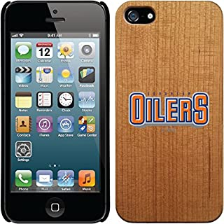 Coveroo iPhone 5/5S Madera Wood Thinshield Case with Edmonton Oilers Word Logo Design