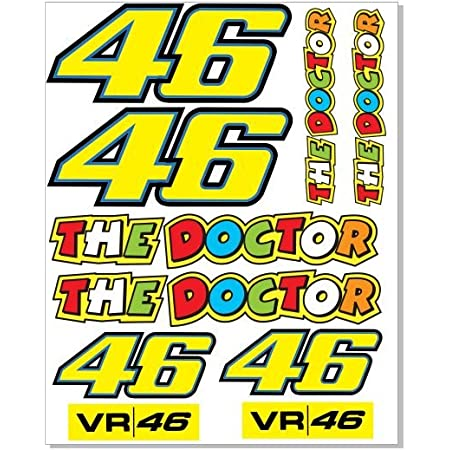 Sticker Valentino Rossi 46 Reflective High Quality 15 2 Cm X 6 3 Cm Pack Of 1 Auto