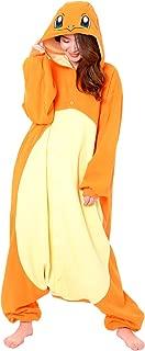 SAZAC Kigurumi - Pokemon - Charmander - Onesie Jumpsuit Halloween Costume - Adult One Size Fits All Orange