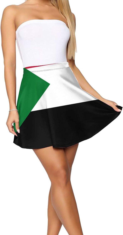 JJCSTE.C Distressed American Flag Women's Skater Skirt Basic Short Skirt