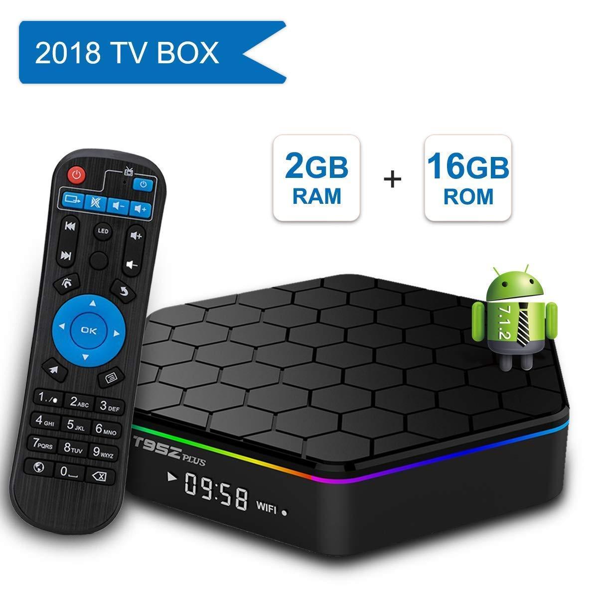 YAOWWY 2GB RAM 16GB ROM T95Z Plus Amlogic S912 Octa Core Android TV Box Media Player 4K HD 2.4G&5G WiFi BT4.0 Gigabit LAN Android 7.1 Smart TV Box: Amazon.es: Hogar
