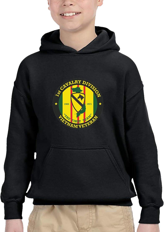 1st Cavalry Division Vietnam Combat Veteran Children'S Hooded Sweater Casual Hoodie For Baby Boys Girls