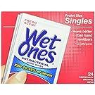 Wet Ones Antibacterial Hand Wipes Singles, 24-Count (Pack of 2)