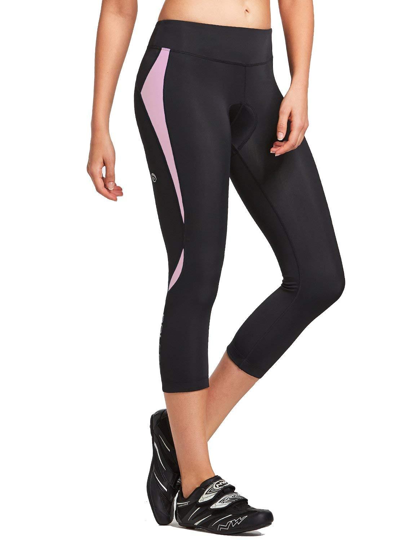 BALEAF Womens 3D Padded Cycling Capri Bike Tights 3//4 Pants Wide Waistband Breathable UPF 50+